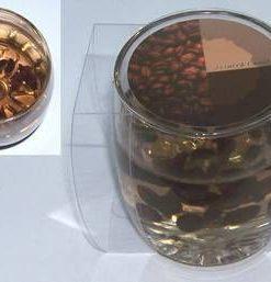 Lumanare cu gel transparent si boabe de cafea