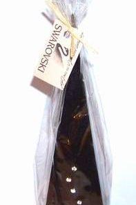Lumanare neagra piramida cu 6 cristale Swarovski