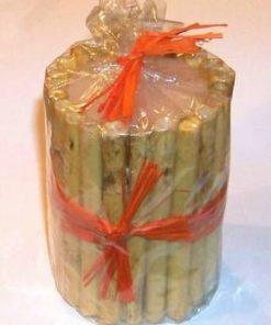 Lumanare cilindrica cu bete de bambus