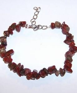 Bratara din cristale de obsidian mahon si jasp roscat