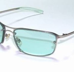 Ochelari de soare, cu rama din metal si lentila vernil