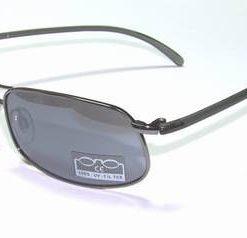 Ochelari de soare, cu rama din metal si lentila fumurie