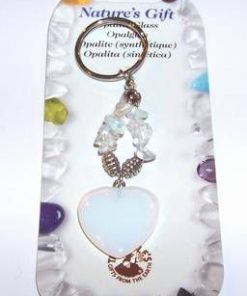 Breloc din metal nobil cu cristal tip opal