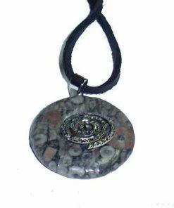 Pandantiv din jasp cu Simbol de reiki argintiu