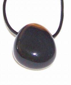 Pandantiv unisex din sardonix, pe siret negru cu argint
