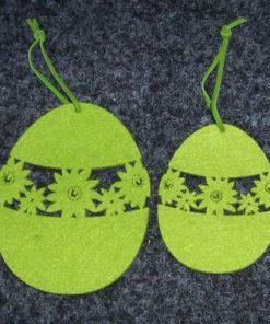 Set de 2 ornamente pentru Sarbatorile Pascale - verde