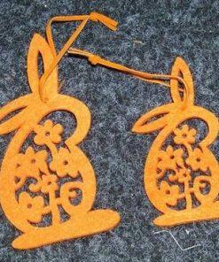 Set de 2 ornamente pentru Sarbatorile Pascale - portocalii