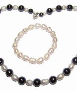 Bratara si colier din perle cu hematit