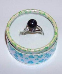 Inel din metal nobil cu cristal de piatra soarelui bleumarin