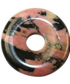 Pandantiv din rodonit in forma de disc