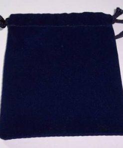 Saculet din catifea albastra