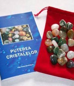 Saculet cu 21 cristale de dimensiune medie