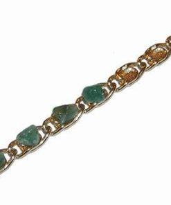 Bratara placata cu aur si cristale de smarald