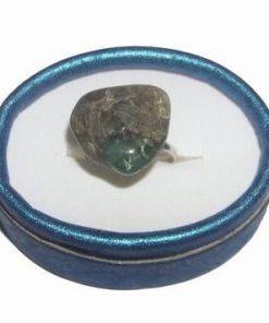 Inel reglabil din metal nobil cu smarald