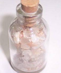 Sticluta fermecata cu cristale de piatra lunii !
