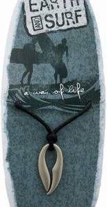 Simbol Maori din metal, pe siret negru, cerat, reglabil