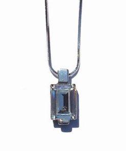 Pandantiv din cristal Swarovski, trasparent, multifatetat