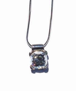Pandantiv din cristal Swarovski, transparent, multifatetat