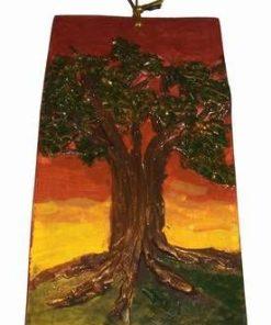 Tablou din ceramica lucrat manual - Copacul Vietii