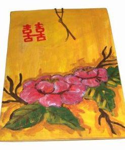 Tablou din ceramica lucrat manual - bujori