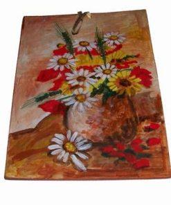 Tablou din ceramica lucrat manual - maci