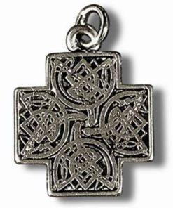 Crucea celtica - Talisman din metal cu agat