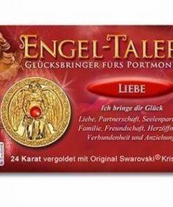Ingerul Dragostei - amuleta norocoasa placata cu aur de 24 K