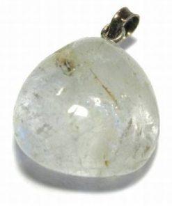 Pandantiv din topaz natural cu agatatoare din argint