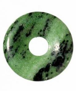 Pandantiv din zoisit / fucsit in forma de disc